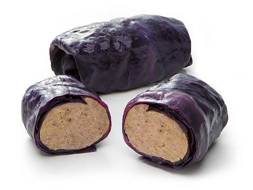 Stuffed red cabbage